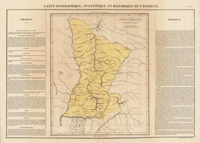 1825 Buchon, Jean Alexandre - Carte Geographique, Statistique et Historique du Paraguay