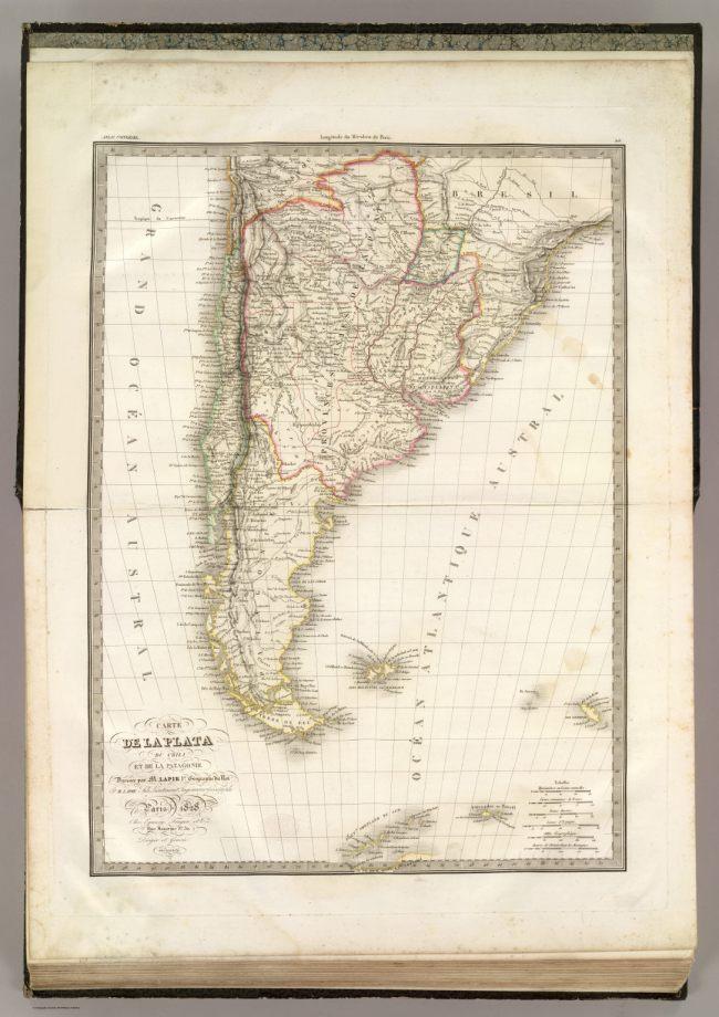 1828 Lapie, M.Pierre - La Plata, Chili et la Patagonie