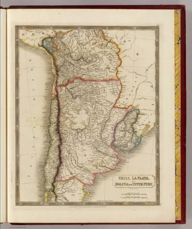 1829 Hall - Chili, La Plata, Bolivia and Upper Peru