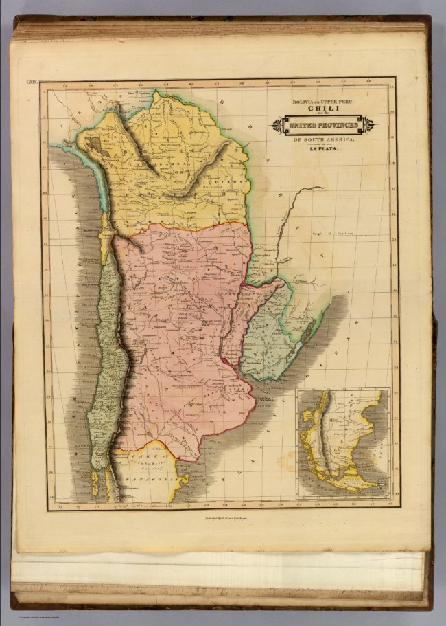 1831 Lizars, Daniel - Chili, Upper Peru, United Provinces of South America and Patagonia