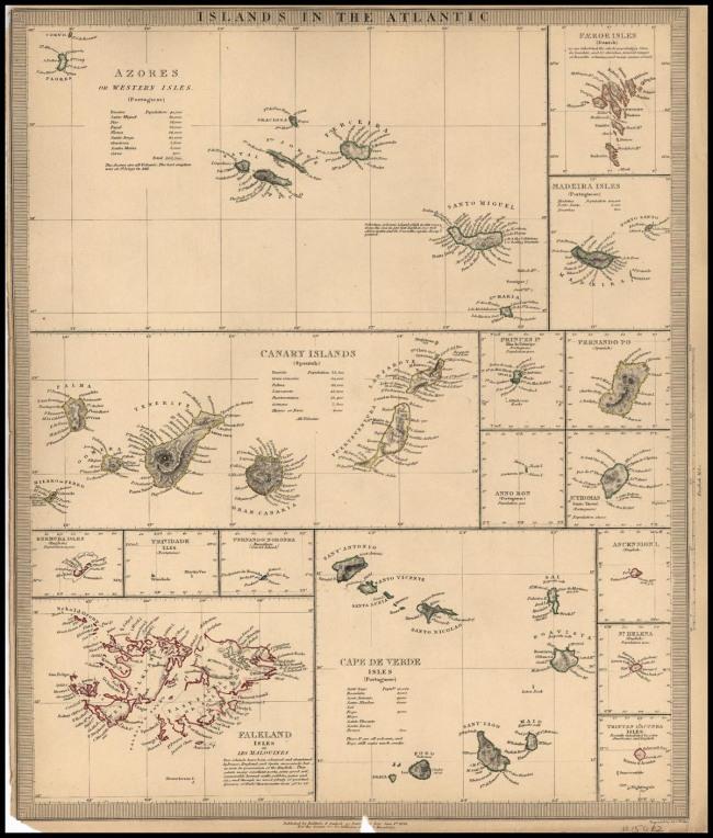 1836 Sduk - Islands in the Atlantic