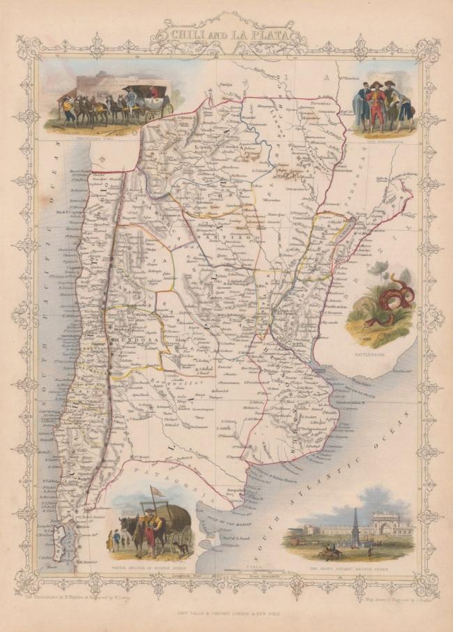 1851 Tallis, J & F. - Chili and La Plata
