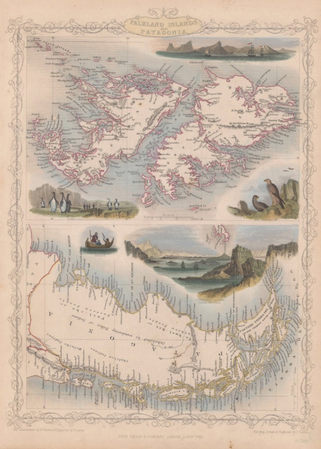 1851 Tallis, J & F. - Falkland Islands and Patagonia