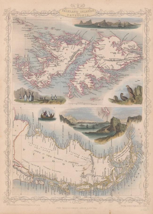 1851 Tallis, J & F. - Falkland Islands and Patagonia