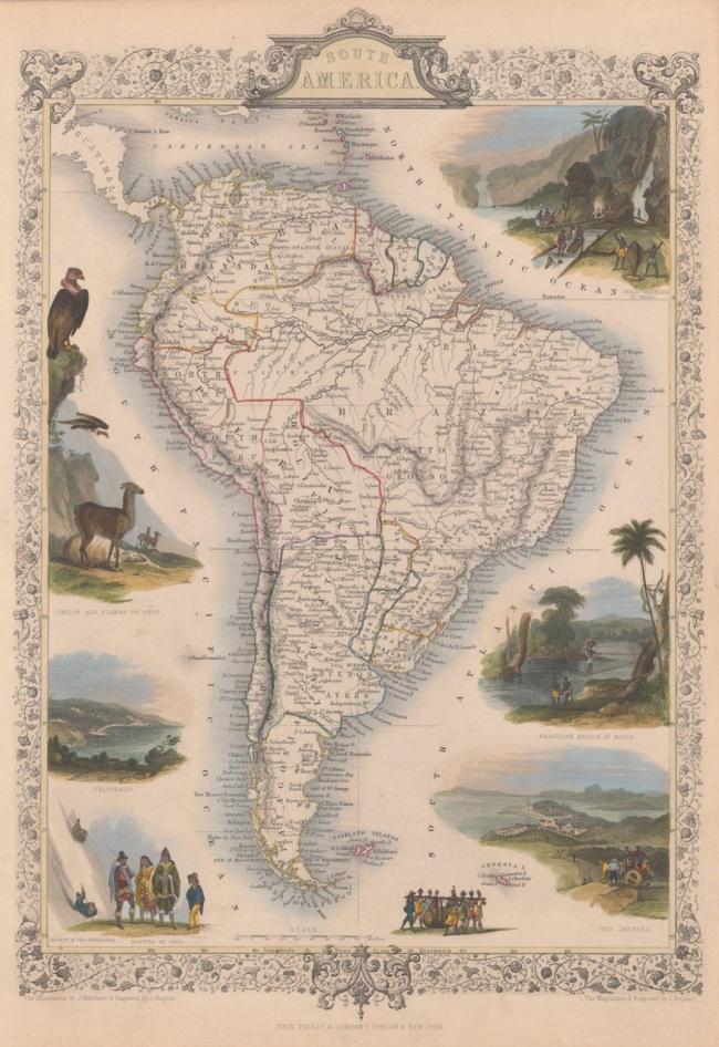 1851 Tallis, J & F. - South America