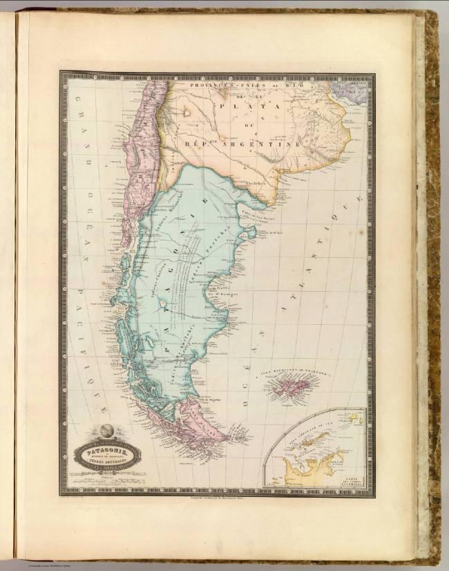 1862 Garnier, F.A. - Terres autrales - Patagonie, Chili, Provinces Unies du Rio de la Plata