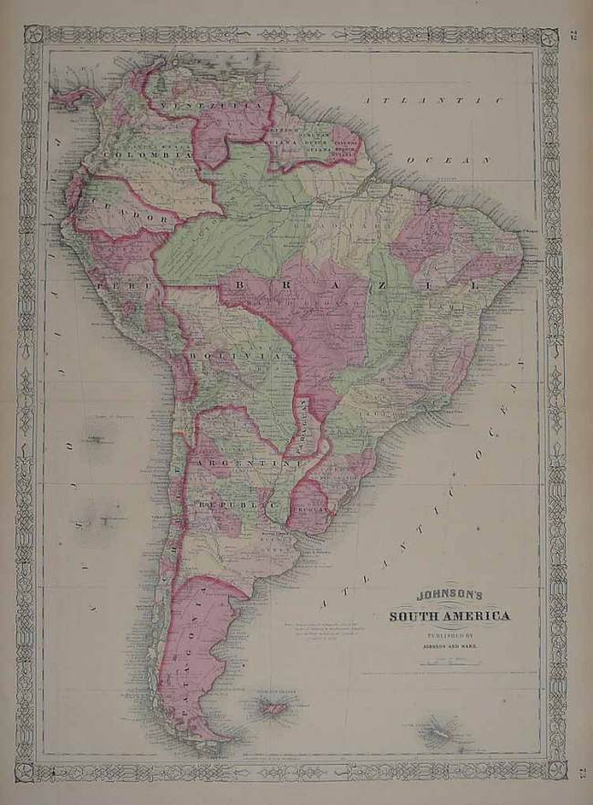 1865 Johnson & Ward - South America