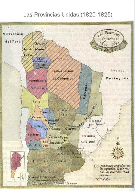 1952 Fuente Pedagógica Argentina - Las Provincias Unidas 1820-25