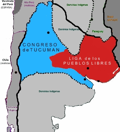 1995 Fuente Pedagógica Argentina - Congreso de Tucumán y Liga de los Pueblos Libres en 1816