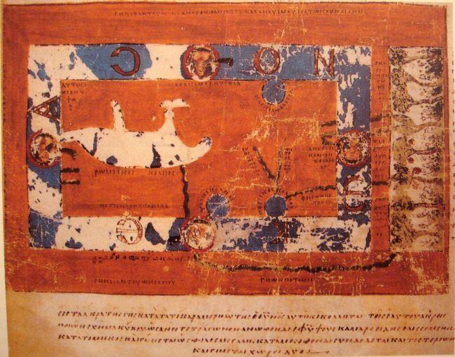 550 Mappa Mundi, Cosmas Indicopleustes, Topografía Cristiana